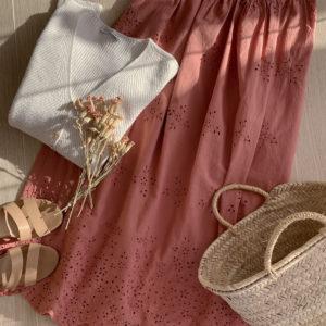 Falda nueva en la tienda